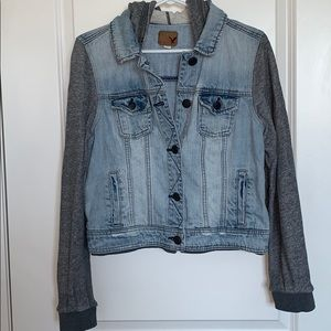 Women's American Eagle Hooded Denim Jacket